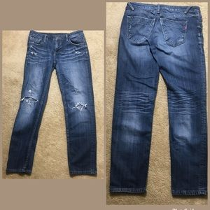 Vigoss Distressed Jeans Thompson Double Roll Cuff